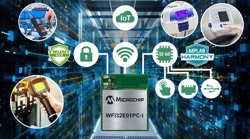 Microchipが豊富な周辺機能を備えたTrust&GO Wi-Fi(R)32ビットMCUモジュールを発表
