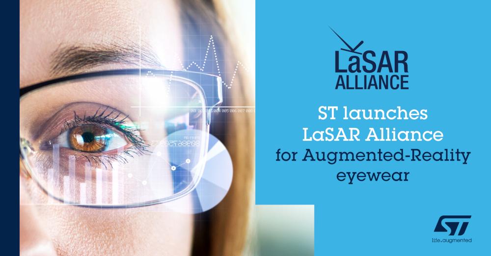 STマイクロエレクトロニクスがARスマート・グラスの開発を加速させるビジネス・エコシステム LaSAR Alliance設立