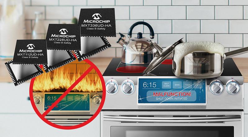 Microchipが安全認証取得済みの電化製品向け静電容量式タッチスクリーン コントローラ ファミリを発表