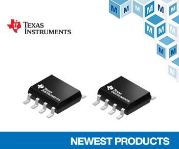 マウザーが高速産業用ソリューション向けTI社製オペアンプ「TLV915x」とADC「ADS7128」の取り扱い開始