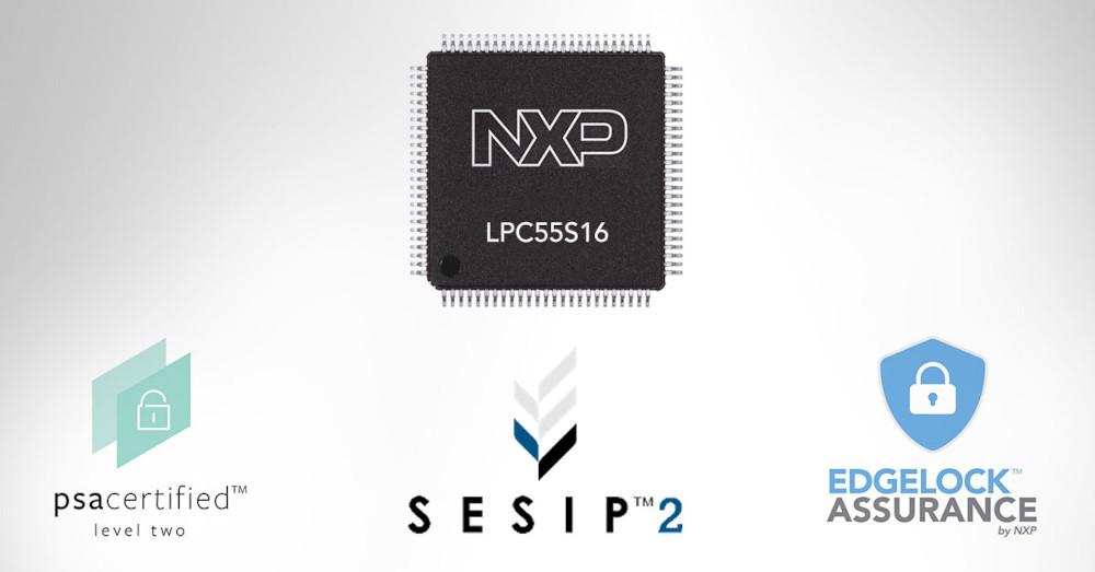 NXPのLPC55S16 MCU、PSAレベル2とSESIP Assuranceレベル2認定を取得