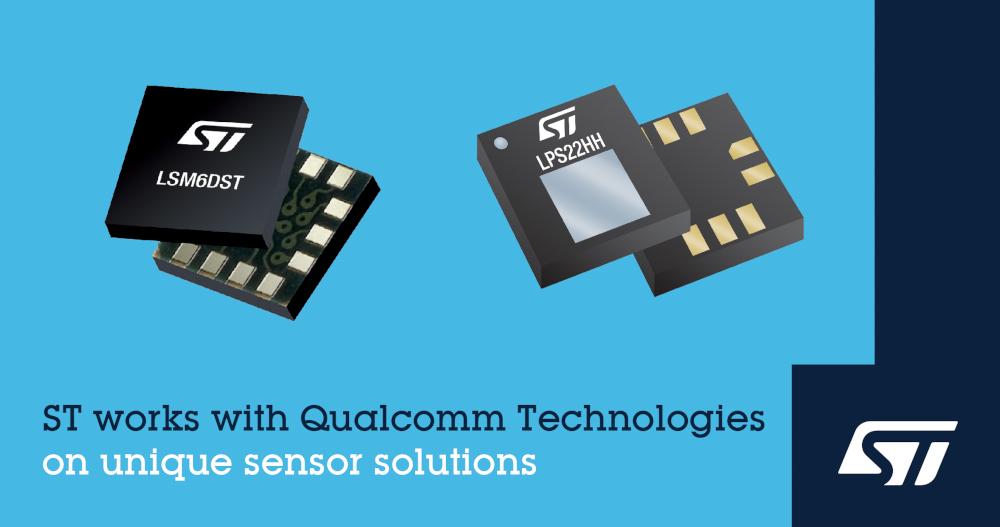 STマイクロエレクトロニクスが次世代IoT機器むけセンサ・ソリューション開発でQualcomm Technologies社と協力