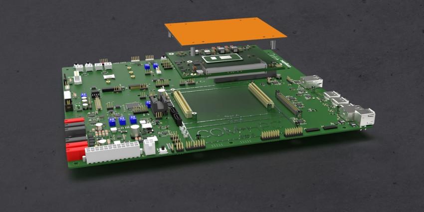 コンガテックがCOM-HPC向けに初のキャリアボードと冷却ソリューション発表