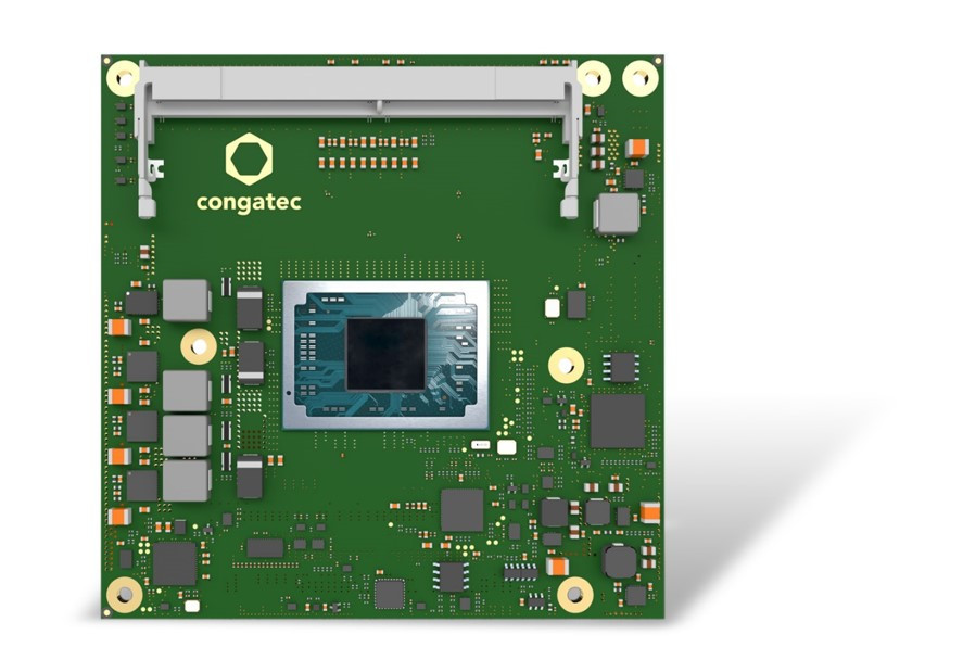 コンガテックがAMD Ryzen Embedded V2000プロセッサ搭載 COM Express Compactモジュール初公開