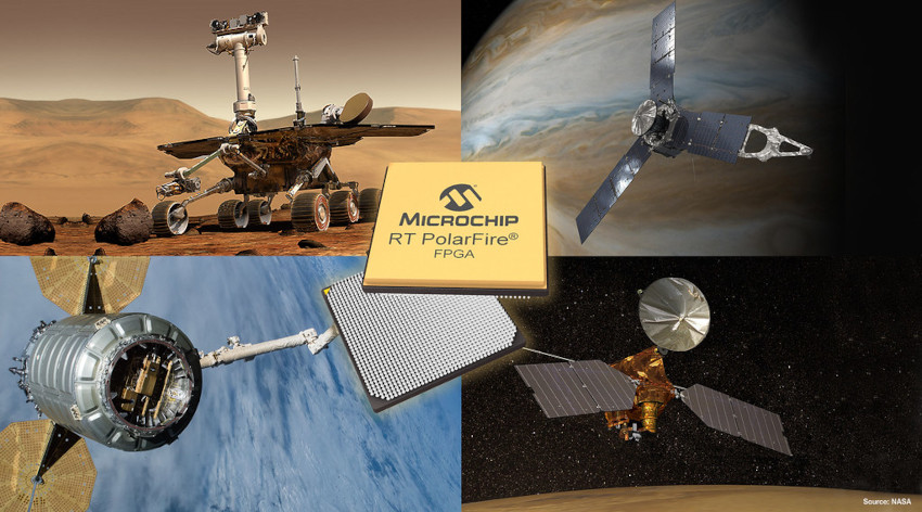 Microchipが低消費電力耐放射線 PolarFire FPGAのエンジニアリング シリコン提供