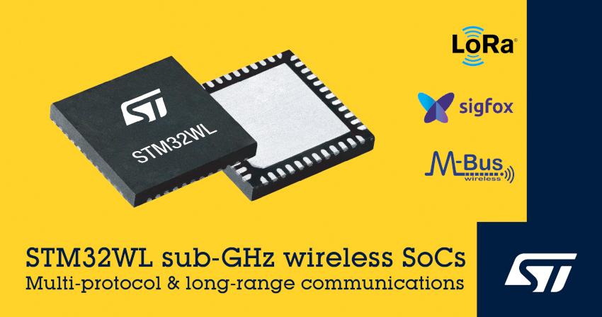 STマイクロエレクトロニクスがLoRa(R)対応ワイヤレス・マイコン STM32WLシリーズを拡充