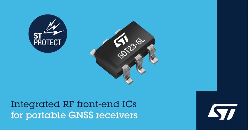 STマイクロエレクトロニクスが携帯型GNSSレシーバの回路設計を簡略化するRFフィルタを発表