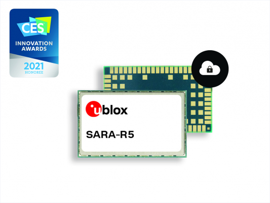 IoT Security-as-a-Service搭載のu-blox SARA-R5 LTE-MモジュールがCES 2021 Innovation Awards Honoreeを受賞