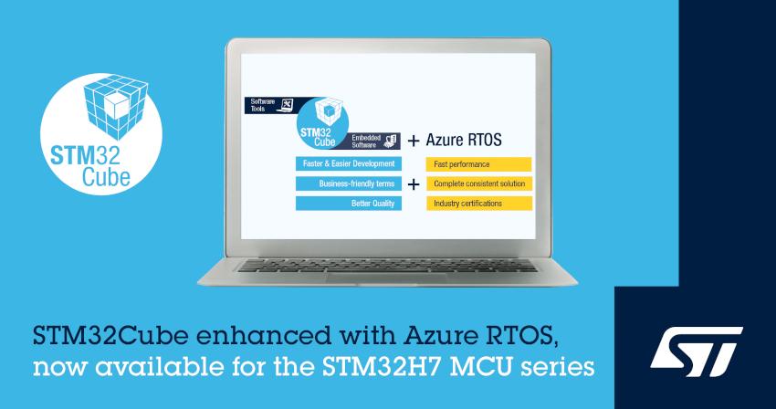 STマイクロエレクトロニクスがSTM32マイコンとMicrosoft(R) Azure RTOSを活用したIoT機器の開発期間を短縮する新しいソフトウェアを発表