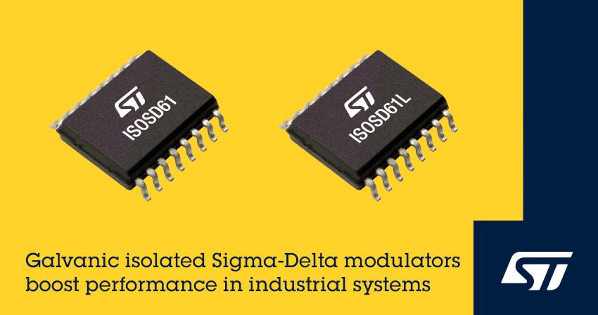 STマイクロエレクトロニクスが高精度・高集積で信頼性に優れたガルバニック絶縁型二次ΔΣモジュレータを発表