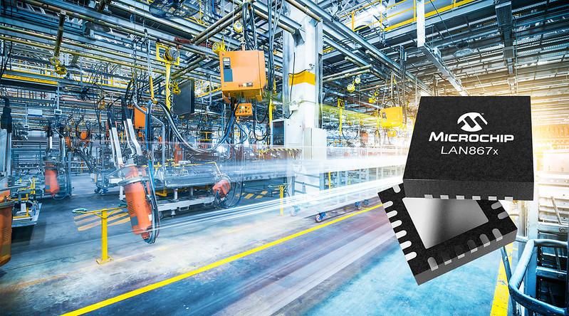 Microchipが産業用ネットワークの拡張性と機能性を高める マルチドロップ バス アーキテクチャEthernet PHYを発表