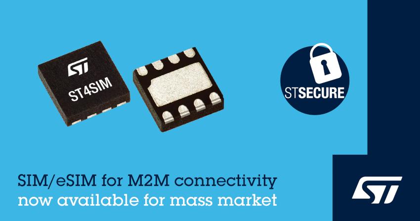 STマイクロエレクトロニクスがM2Mアプリケーション向けGSMA認定済みeSIM「ST4SIMファミリ」をマス・マーケット向けに提供開始
