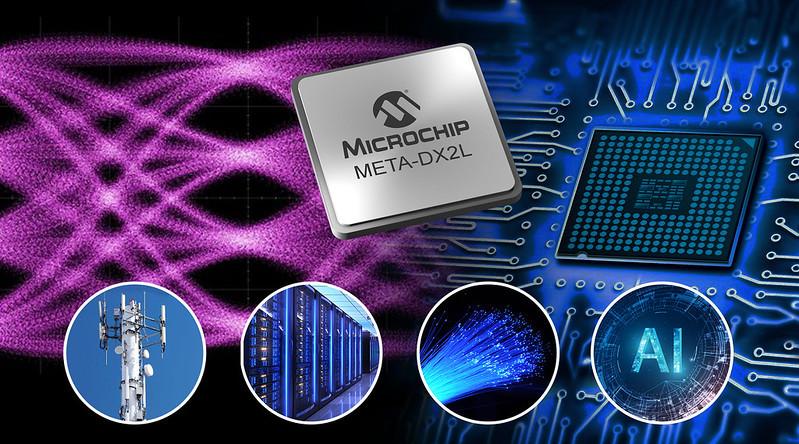 Microchipがクラウド データセンター、5G、AI向けに最大800 GbEの性能を備えた小型1.6T Ethernet PHY発表